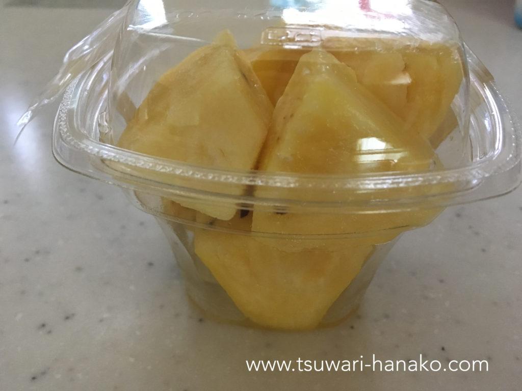 カットフルーツのパイナップル