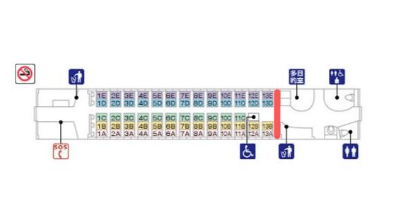新幹線のベビーカーを置けるスペース