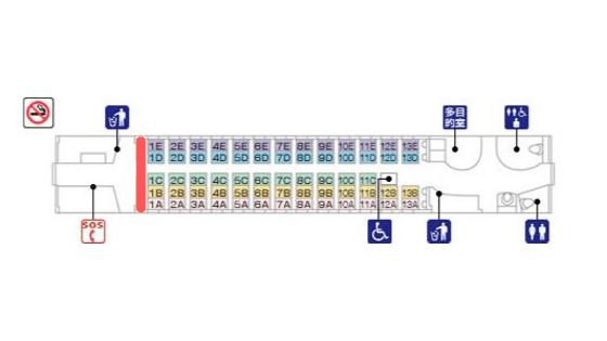 新幹線の最前列の席