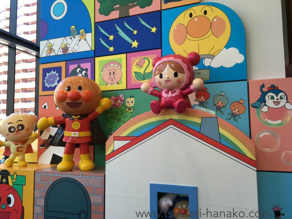 仙台アンパンマンミュージアム入り口のジオラマ