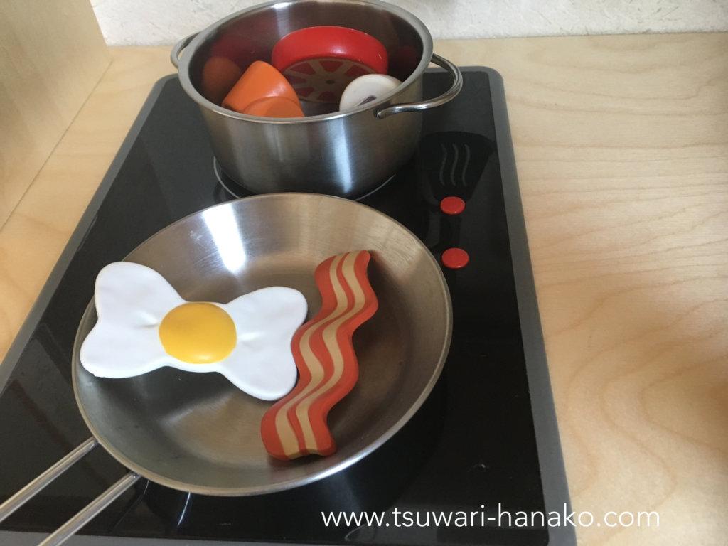 おままごとキッチンのコンロの使い方