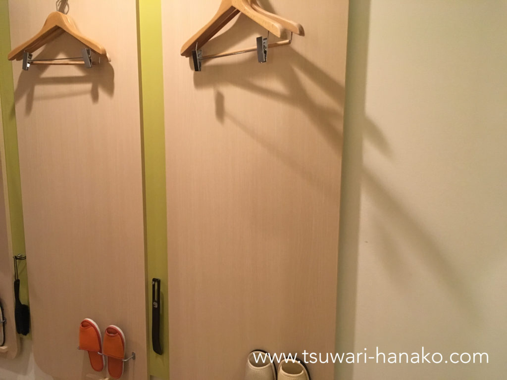 三井ガーデンホテルプラナ東京ベイ客室ハンガー