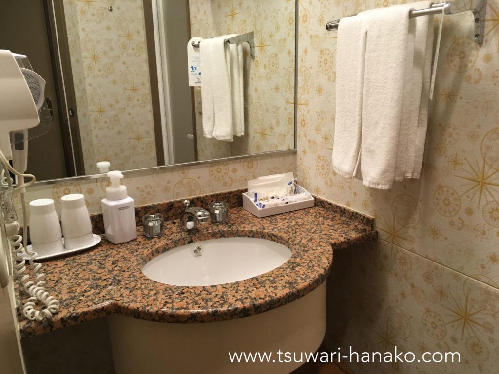 東京セレブレーションホテルディスカバリーの洗面所