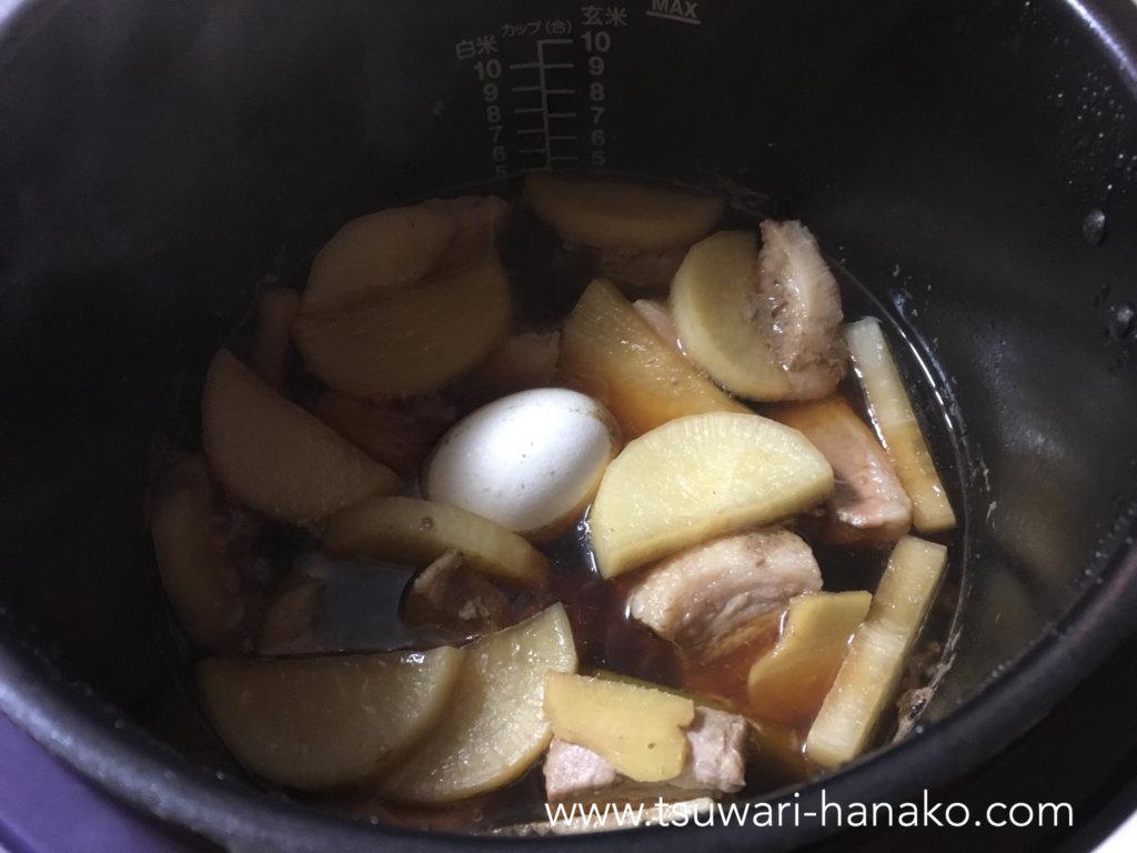 クックフォーミーで角煮の圧力調理