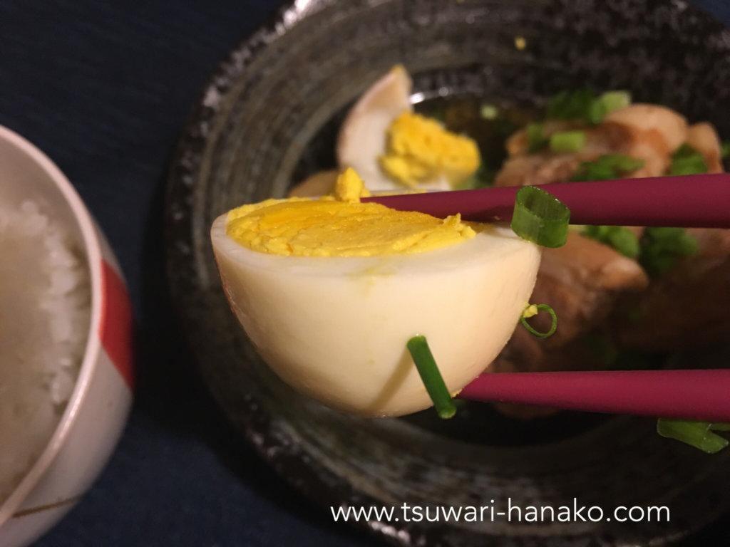 クックフォーミーで作った角煮の卵