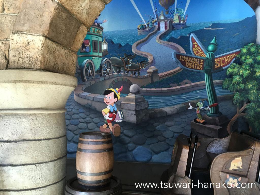 ピノキオの大冒険アトラクション入り口