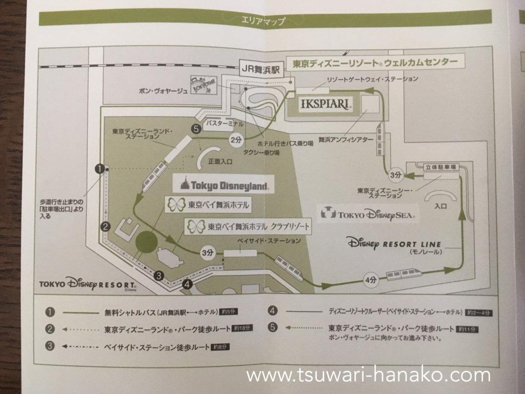 東京ベイ舞浜ホテルエリアマップ