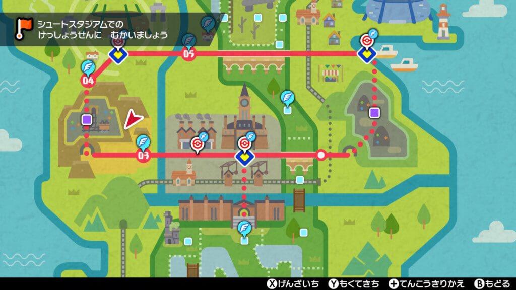 ポケモンソードのマップ